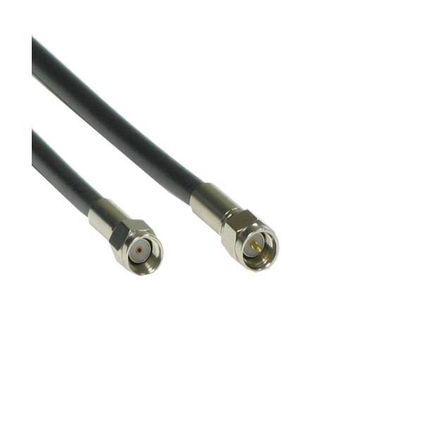ANTENNA CABLE MALE REVERSED - SMA to MALE SMA - LMR200 2M BK